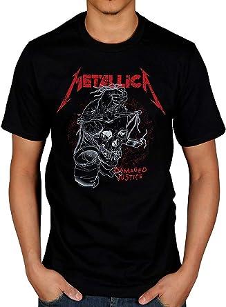 Camiseta oficial de Metallica Damaged Justice - Negro - Large ...