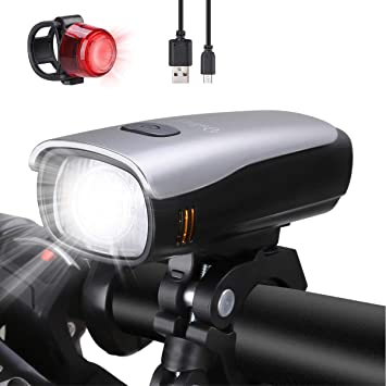 4ba22646114c6 Luces Bicicleta Delantera y Trasera USB Recargable LED Luz Bicicleta  Impermeable Luz Bici de Carretera o Montaña (300 LM -1)  Amazon.es   Deportes y aire ...