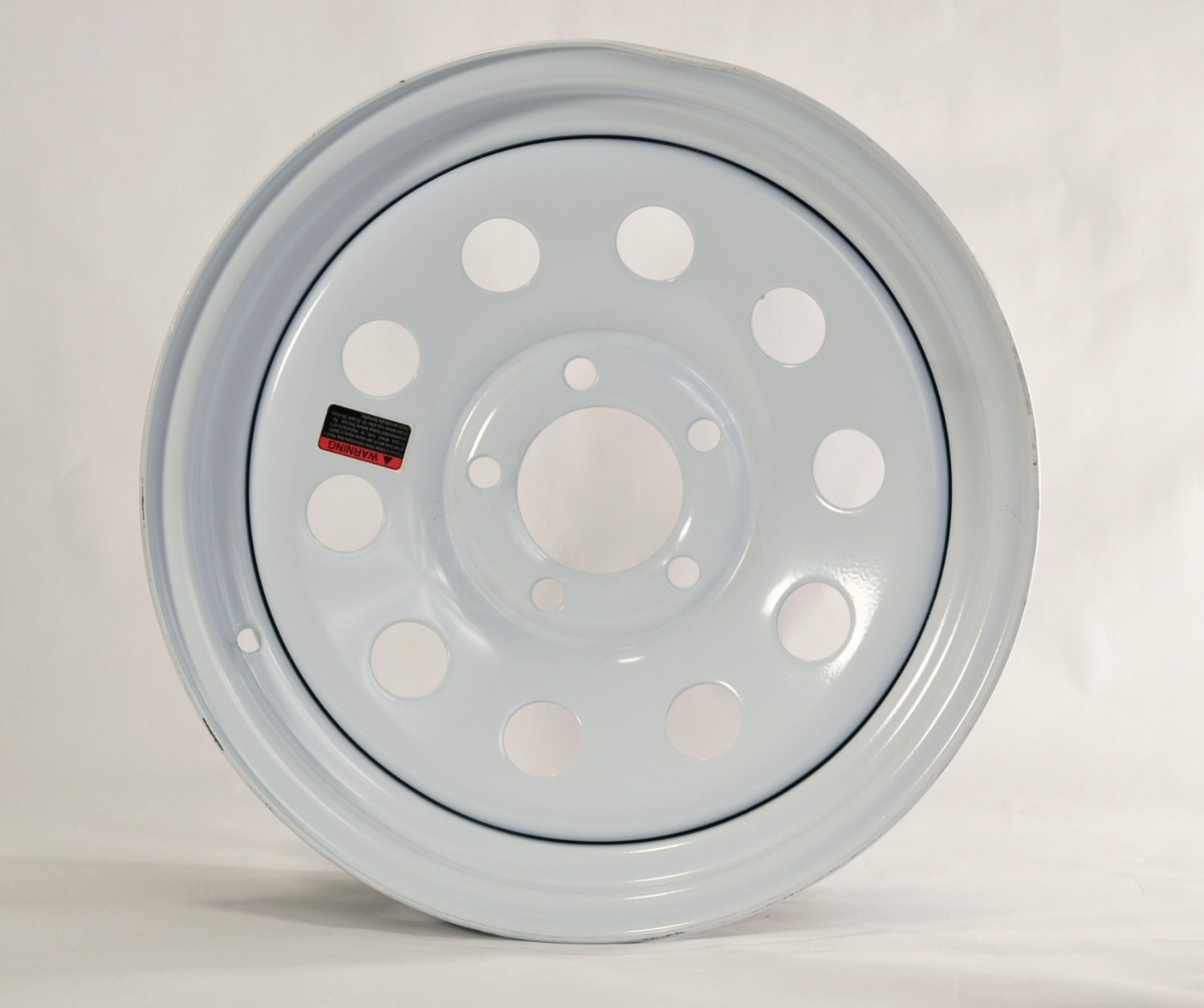 15'' x 5'' White Modular Trailer Wheel (5-5'' bolt Circle)