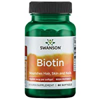 Swanson Super Strength Biotin 10Vitamin 000 mcg 60 Sgels