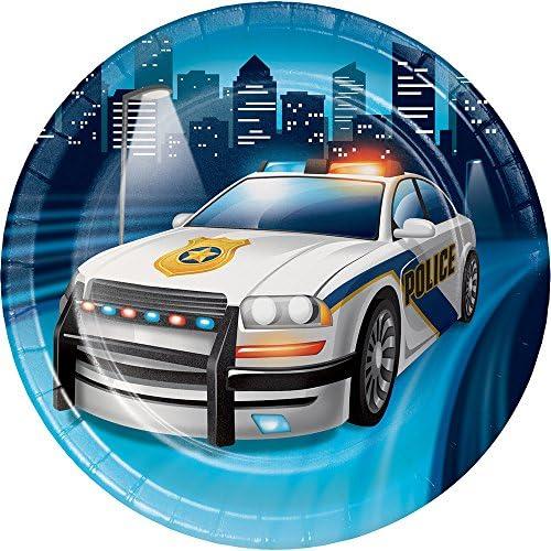 Creative Converting 329387警察パーティー96-count頑丈なスタイルSmall /デザート紙皿
