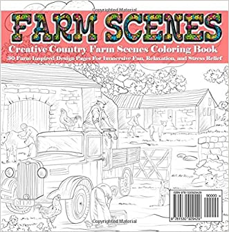 creative country farm scenes coloring book 30 farm inspired design