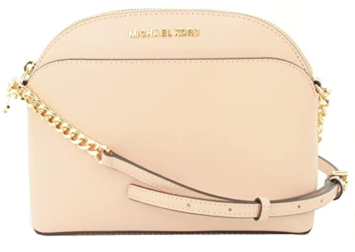 9abde9f6f8fa Michael Kors Emmy Leather Chain Shoulder/Cross Body Bag Small Handbag  (Pastel Pink)