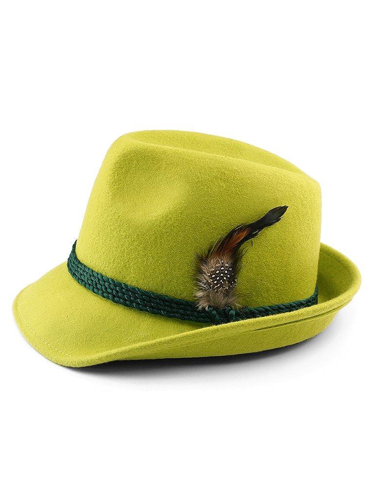 HutundFeder Trachtenhut mit Feder apfelgrün