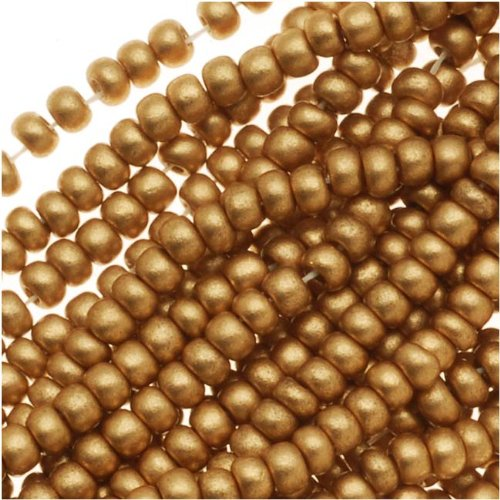Czech Seed Beads 11/0 Light Gold Supra Metallic (1 Hank/4000 Beads) ()