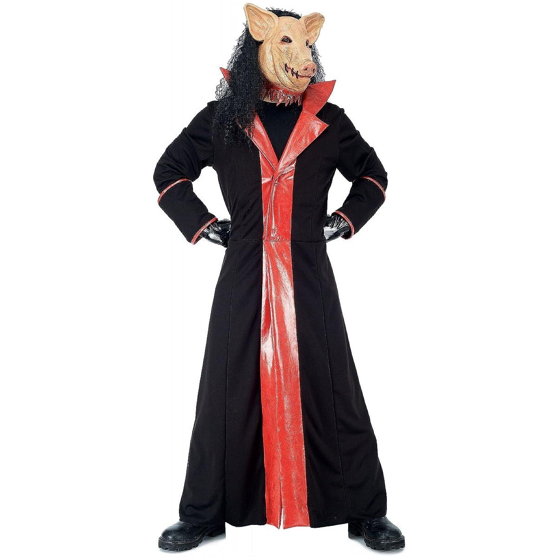 Amazon.com Paper Magic Menu0027s Jigsaw Adult Deluxe Pig Costume And MaskBlackMedium Clothing  sc 1 st  Amazon.com & Amazon.com: Paper Magic Menu0027s Jigsaw Adult Deluxe Pig Costume And ...
