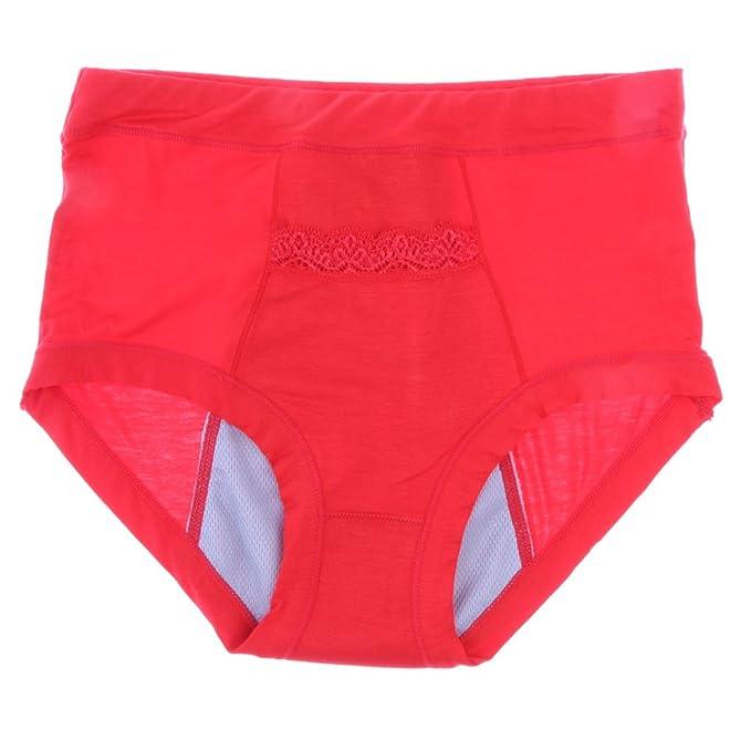 Sharplace Ropa Interior Bragas Sujetador Suave Cómodo para Mujer Novia Tia Regalo Sexy - rojo,