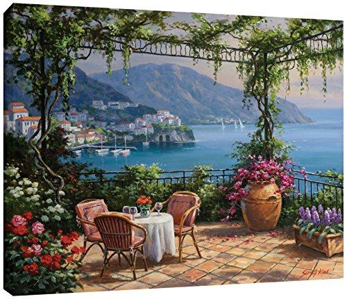Terrace Framed Canvas (Sung Kim ''Villa Carlotta Terrace'' Gallery Wrapped Floater-framed Canvas, 36X48)