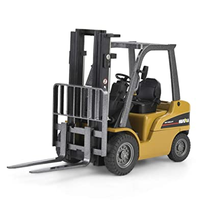 VGEBY1 Forklift Toy, HUINA1717 1:50 Alloy Forklift Truck Model Engineering Vehicle Kids Static Model Car Toy: Toys & Games