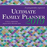 Ultimate Family Planner 2019 12 x 12 Inch Monthly Square Wall Calendar by Wyman 17 Months with Pocket, Stationery Organizer