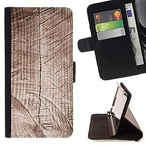 - Artistic Grey Wood Grain Pier - Estilo PU billetera de cuero del soporte del tir???¡¯????n [solapa de cierre] Cubierta- For LG OPTIMUS L90 £¨ Devil Case £©