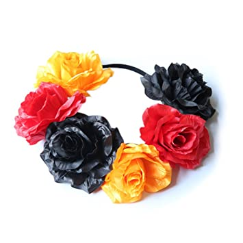 Flower Headband National Flag Colour Fancy Head Wear Head Band
