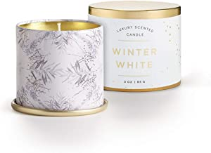 Illume Noble Holiday Collection Winter White Demi Vanity Tin, 3 oz Candle