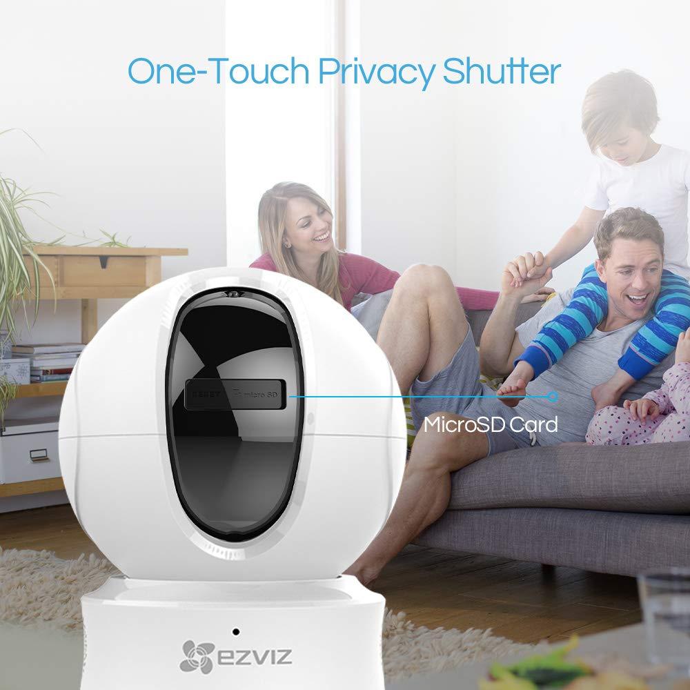 EZVIZ /Überwachungskamera innen 1080p WLAN /& LAN IP Dome Kamera mit Server in Europa Handy App Two-Way-Audio Nachtsicht Bewegungsmelder Home//Baby//Haustier Indoor Monitor PTZ Cam Full HD CTQ6C