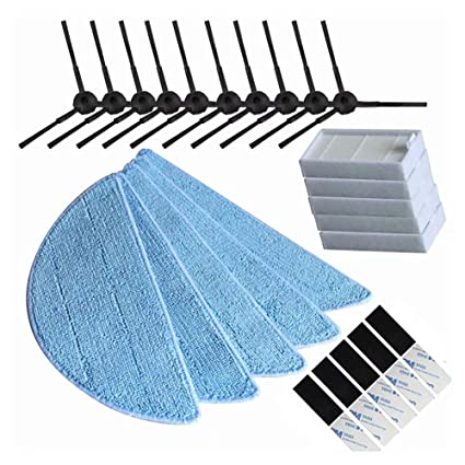 Amazon.com: ANBOO Replacement Accessories for ILIFE V3 V3s V5 V5s V5s Pro Robot Vacuum Cleaner Side Brush Filter Mop Cloth Magic Paste for ILIFE Vacuum ...