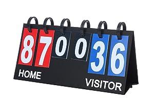 """Upstreet Scoreboard Score Keeper - Portable Flipper Flips up to 99"""""""