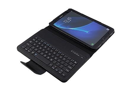 Funda con Teclado en español (Incluye Letra Ñ) conexión Bluetooth y Extraíble para Tablet
