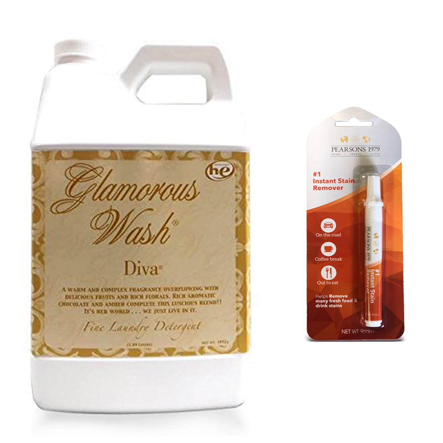 TYLER DIVA Glamorous Wash Laundry Detergent - 64oz/Half Gallon - (Bundled with Pearsons Stain Remover Pen) by Tyler