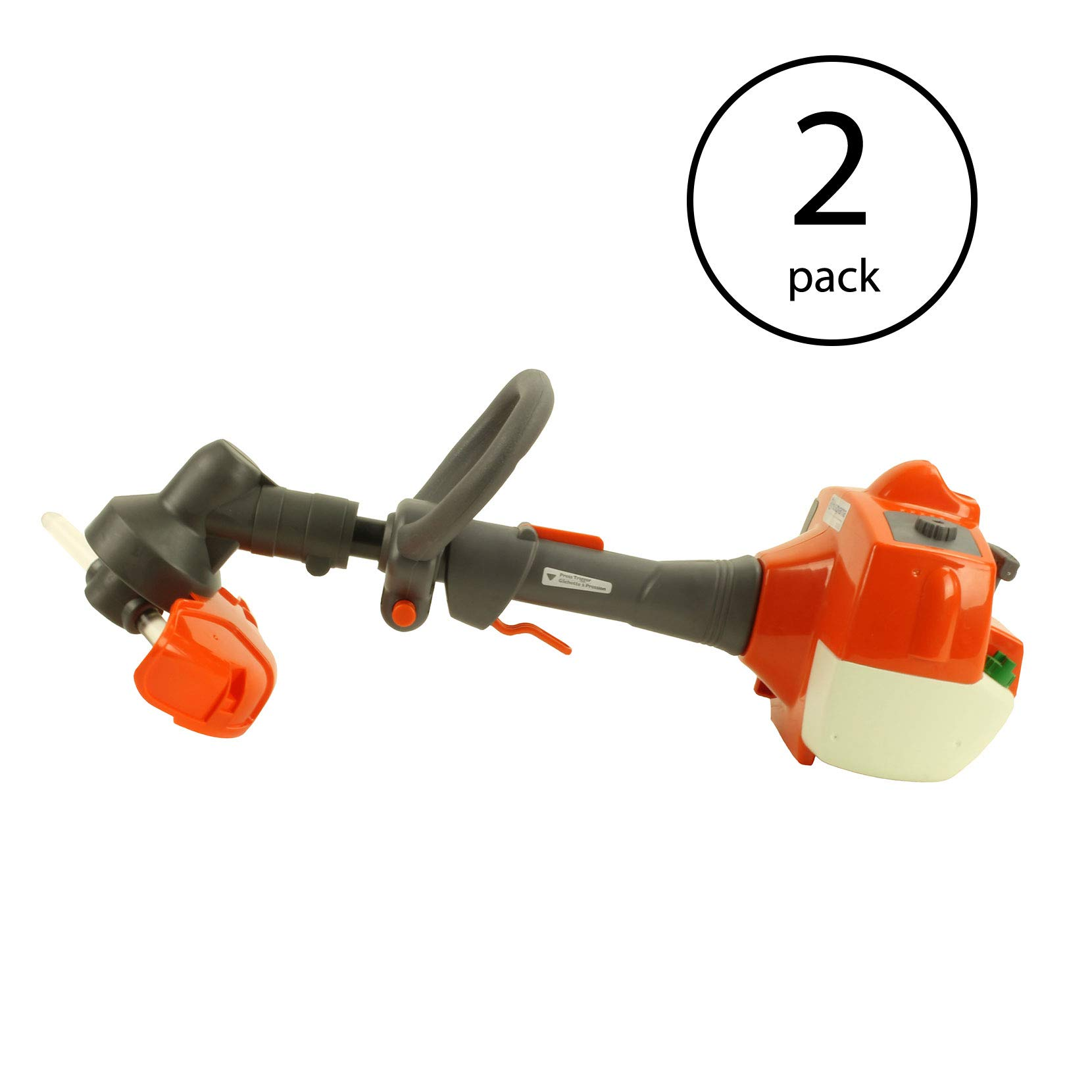 Husqvarna Kids Toy Battery Operated Lawn Trimmer Sound & Rotating Line (2 Pack)
