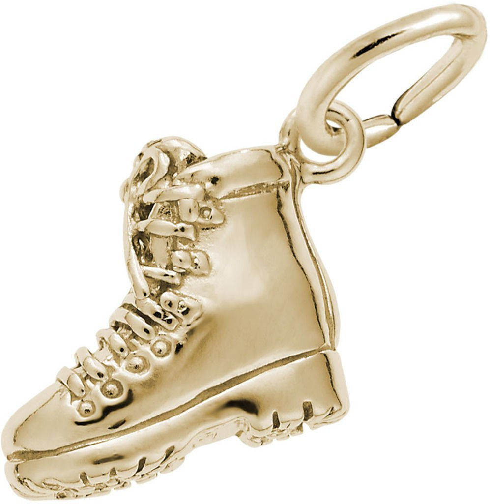 Rembrandt Hiking Boot Charm - Metal - 14K Yellow Gold