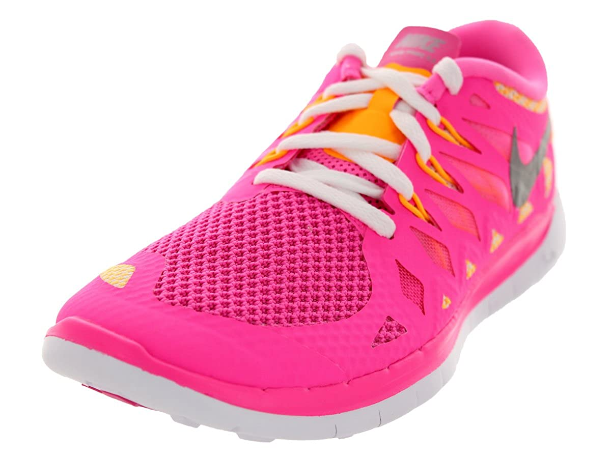 wholesale dealer ad0e6 96b9a Nike Free 5.0 (GS) Girls Running Shoes 644446-600 Pink Glow 4 M US