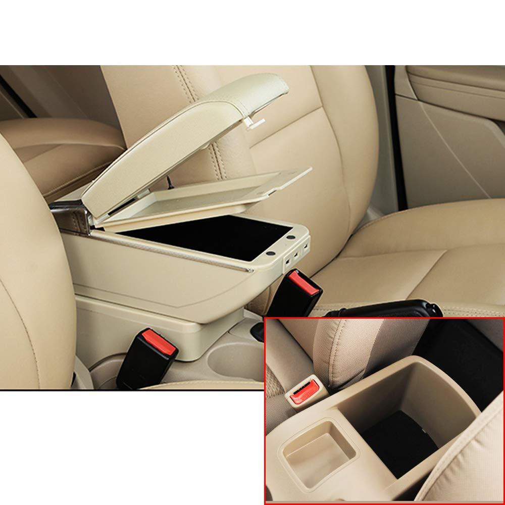 F/ür H yundai I30 Top Auto Armlehne Mittelarmlehne mittelkonsole Zubeh/ör Ladefunktion Mit 7 USB-Ports Doppelter Stauraum Schwarz