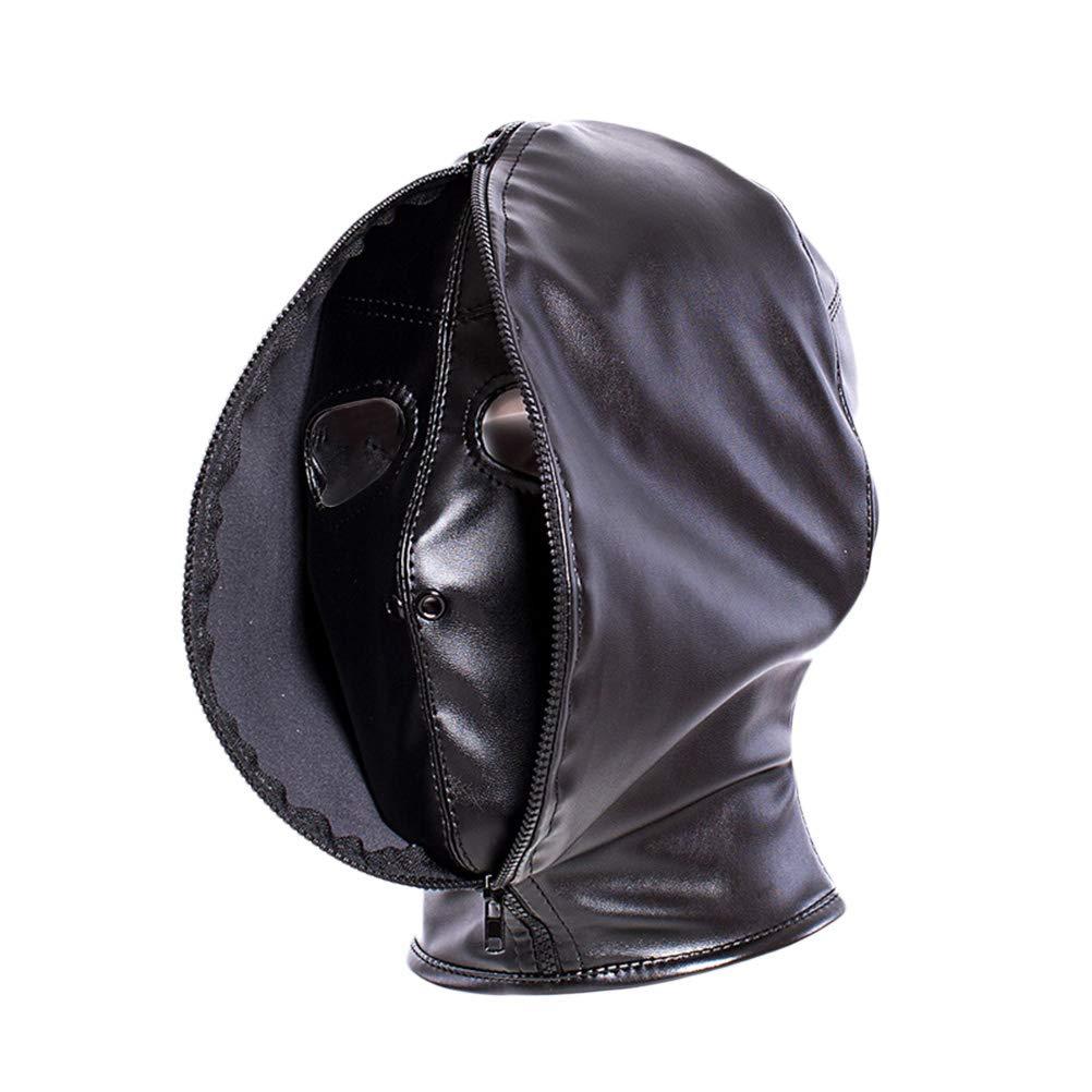 BESTOYARD Fetisch Kopfmaske Bondage Maske Cosplay Kostüm Haube für Frauen (Schwarz)