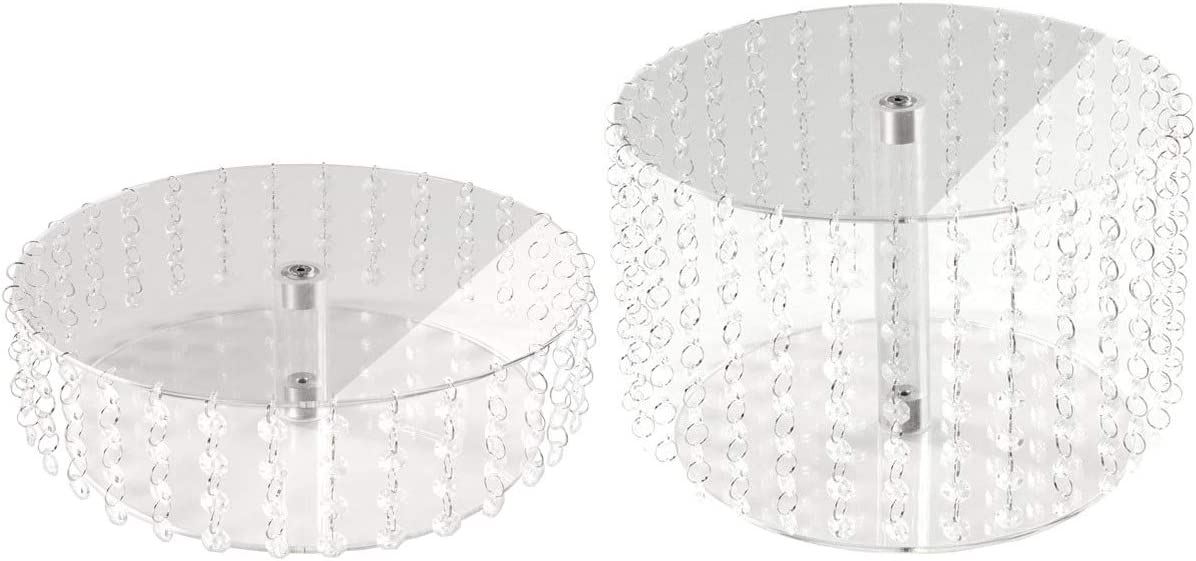 2 Etagen Manschin-Laserdesign Acryl Plexiglas Tortenst/änder Rund Hochzeit 2 Etagen Etagere Geburtstag Alu /Ø 28 cm