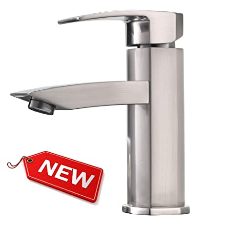 Hotis Widespread Single Handle Single Lever Stainless Steel Lavatory ...