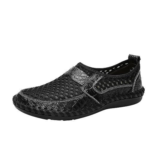 8b4063b8f89 Hurrybuy Men s Breathable Sports Plus Size Shoes Mesh Pedals Soft Shoes  Black