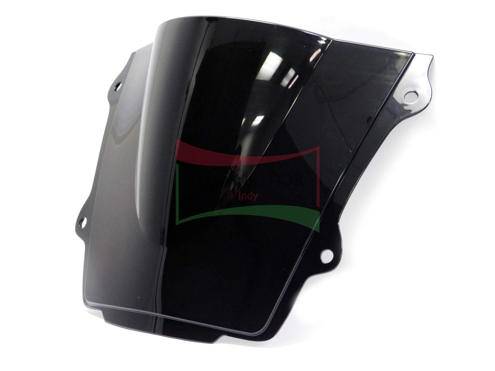 Protek ABS Plastic Injection Black Smoke Double Bubble Transparent Windscreen Windshield Front Visor for 2007 2008 2009 2010 2011 2012 Honda CBR600RR