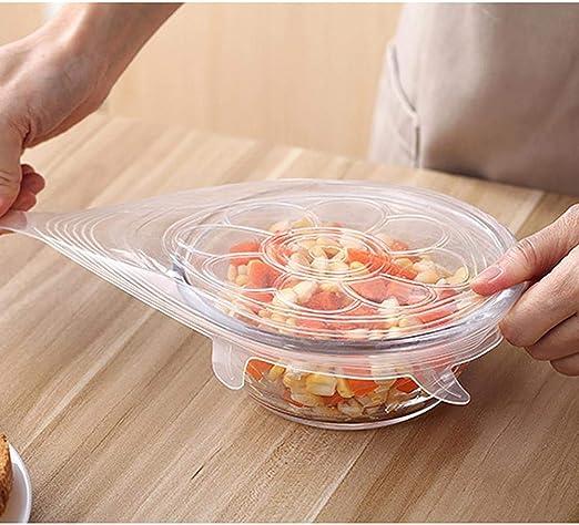 Hifuture - 6 Tapas de Silicona para Alimentos elásticas, Tapa ...