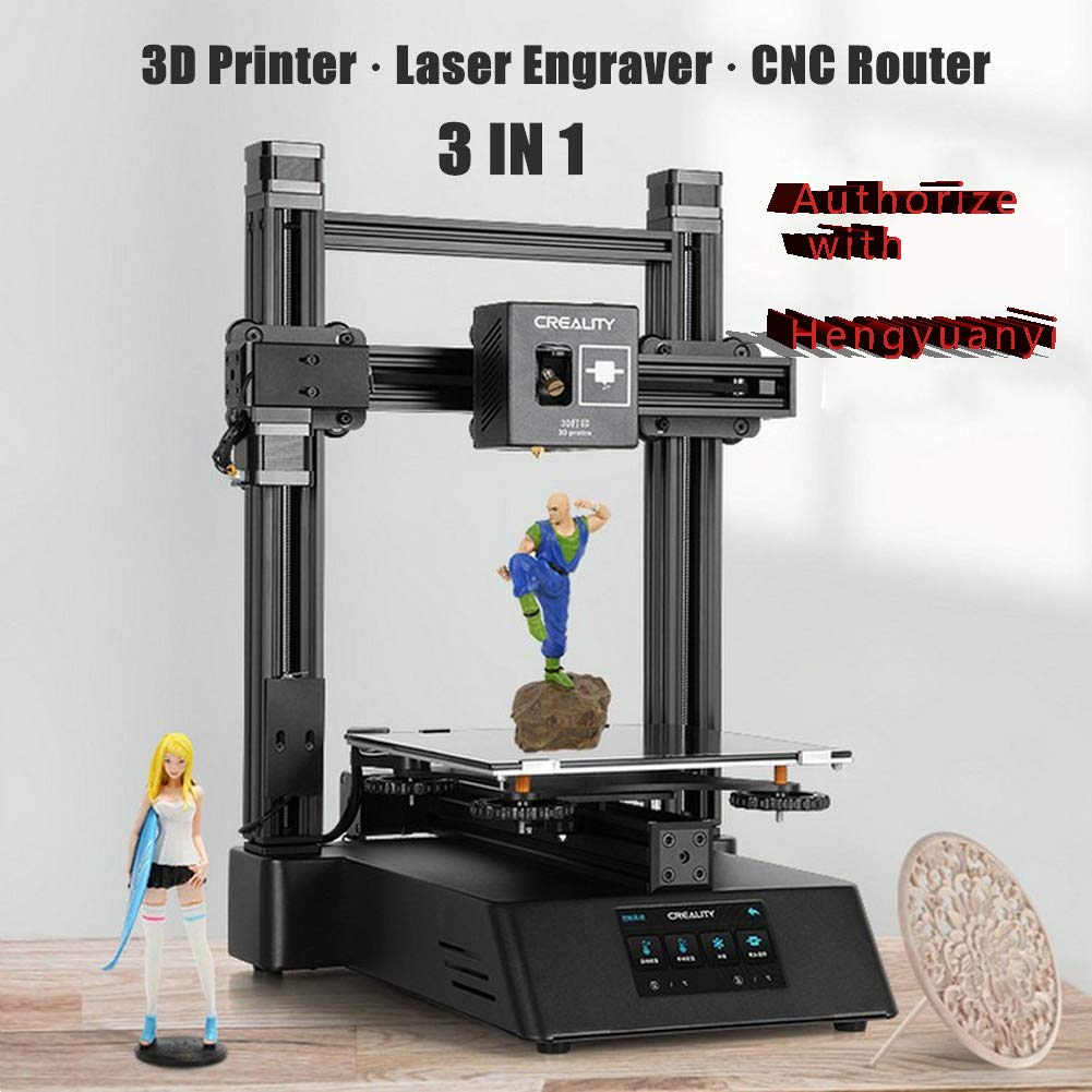 3 en 1 CP-01 Impresora 3D Máquina de grabado láser Enrutador CNC ...