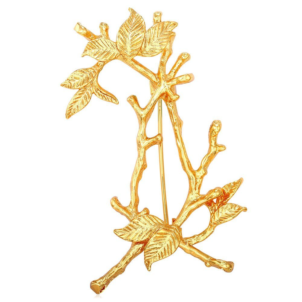U7 Women Tree Branch Brooch 18K Gold/Platinum Plated Breastpin Pin U7 Jewelry U7 B1938K