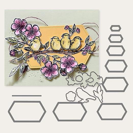/álbum de fotos Lai-LYQ color plateado Plantillas de metal para /álbumes de recortes tarjetas de papel