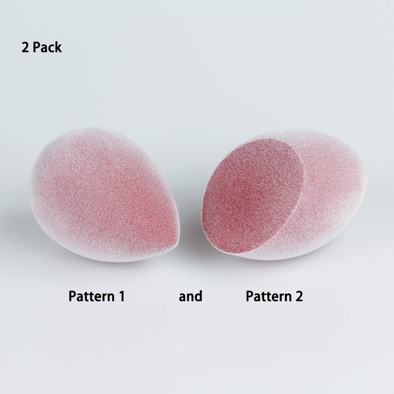Beauty Fiber Makeup Sponge Beauty Flocking Makeup Tool Latex Free for Powder, Cream or Liquid Application(1 pcs) MiraCle
