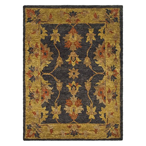 Safavieh-Bohemian-Collection-BOH316A-Hand-Knotted-Charcoal-and-Gold-Jute-Area-Rug
