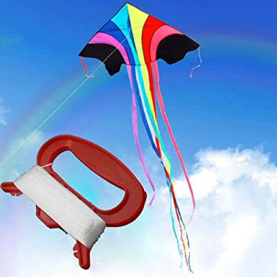 Anniston Kids Toys, 100m Outdoor Sports Flying Kite Line with D Shape Winder Board Tool Kit Outdoor Toys Perfect Fun Time Play Activity Gift for Boys Girls: Toys & Games