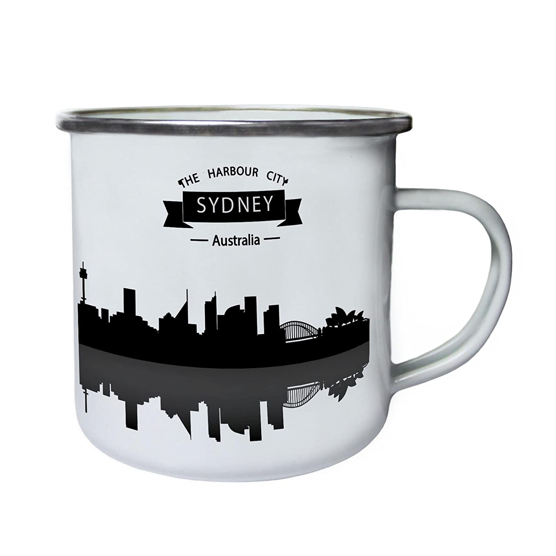 Sydney Australien Stadt Reise Die Welt Retro, Zinn, Emaille 10oz ...
