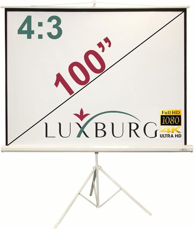 Luxburg - Pantalla de proyector 3D Full HD con trípode, 100 ...