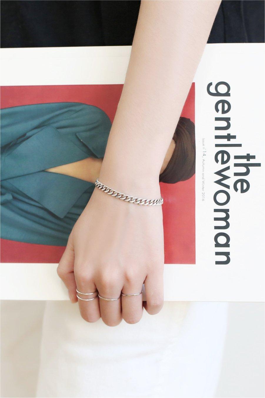 Generic Wu original ornaments handmade Thai silver thick twist bracelet S925 sterling silver jewelry bracelet girls Valentine's Day gift by Generic