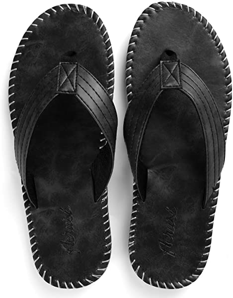 1b75f9148450 ... Aerusi Men s Boy s Flip Flops Sandals Leisure Casual Braid Strap Thongs  Flat Beach Slippers Shoes ...