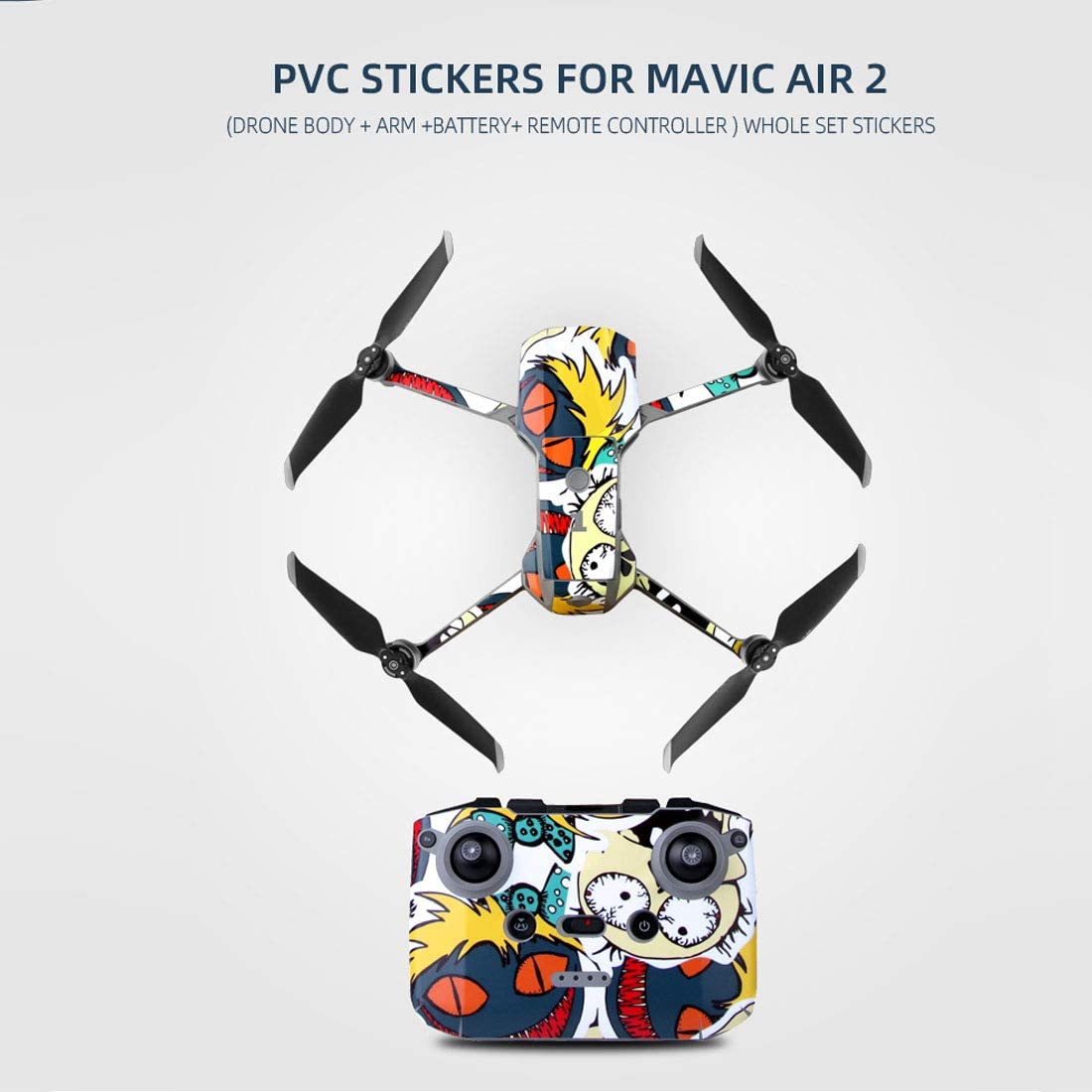 Waterproof PVC Stickers Decal For DJI MAVIC Air 2 Drone Scratch Resistant 2020