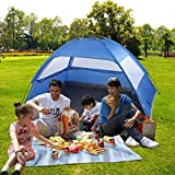 Outdoor Camping Tent Instant Portable Beach Tent Anti UV Sun Shelter for Fishing Camping, Hiking and Parks – 83″ x 55″ x 43″ Size