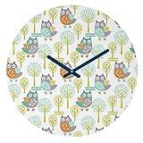 Deny Designs Wendy Kendall, Woodland, Round Clock, Round, 12