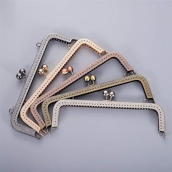 Amazon.com: Marco de metal para monedero, diseño cuadrado, 5 ...
