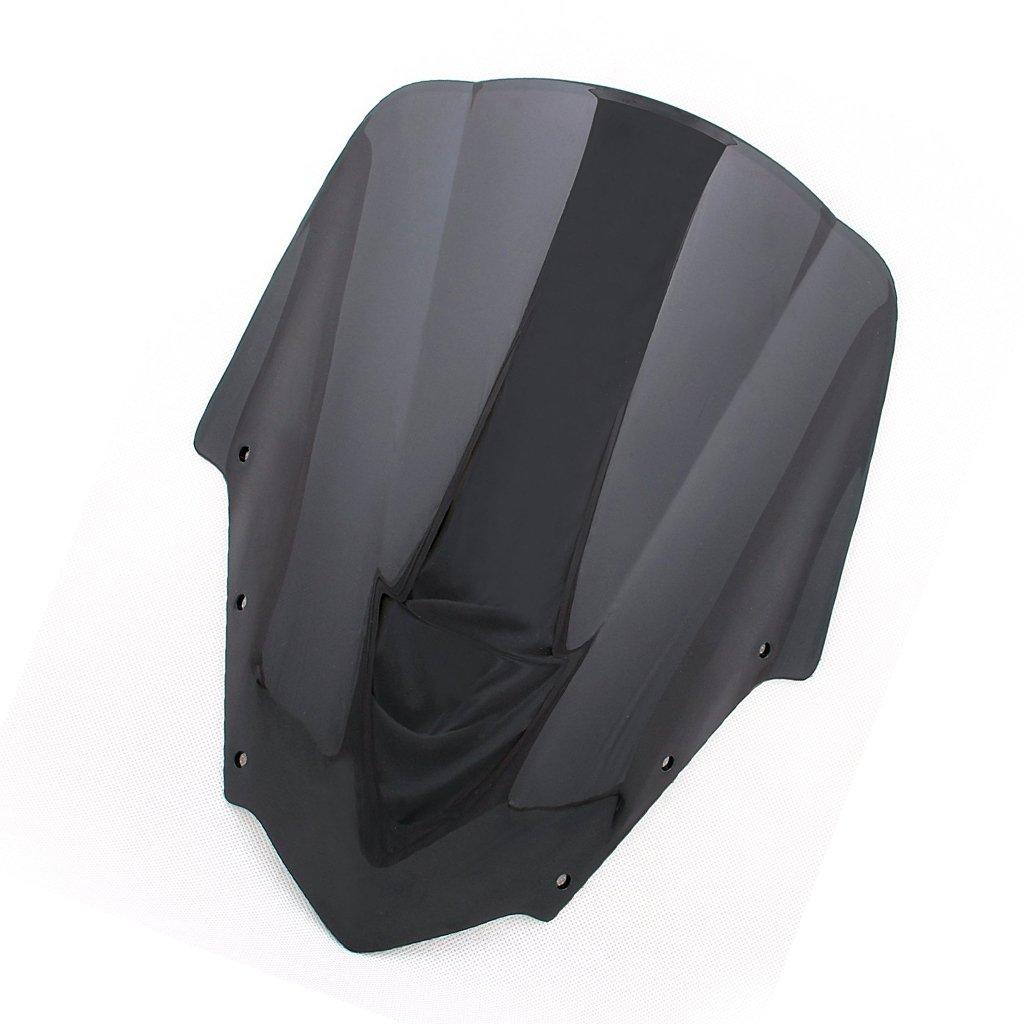 Windshield WindScreen Double Bubble For Yamaha FZ1S 2006-2011 (Black)