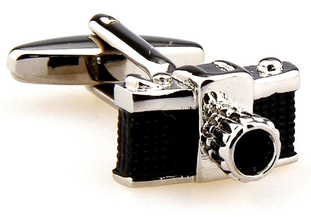 MRCUFF Camera Pair Cufflinks in a Presentation Gift Box & Polishing Cloth