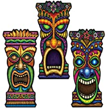 Beistle 55331 24-Pack Tiki Cutouts, 22-Inch