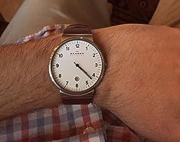 Skagen Men's SKW6052 Ancher Steel Mesh Watch - Free Shipping Today ...